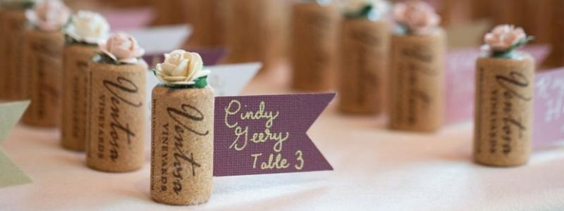 Wine cork seat assignment decor