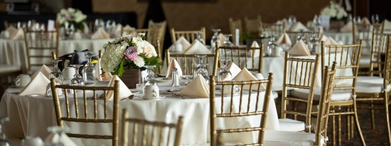 table setting in banquet room