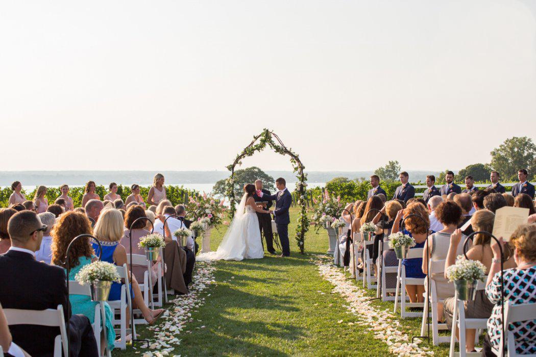 Sheldrake point winery wedding